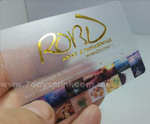 Plastic business cards 7daysprint foil plastic business cards reheart Image collections
