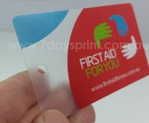 Frosted plastic business cards printing from only 79957daysprint r reheart Gallery