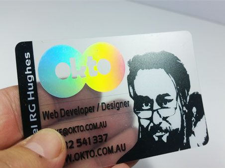 r - Holographic Business Cards