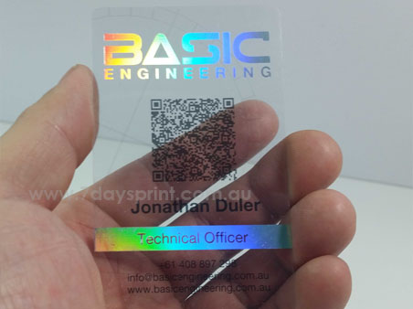 Hologram plastic business cards printing from only 11495 delivery estimate reheart Choice Image