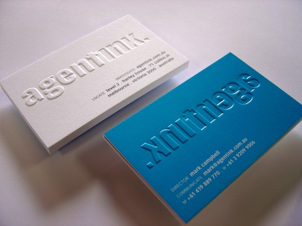 Embossing Business Cards printing from only $ 75 95
